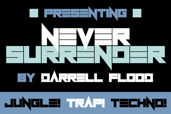 Image for Never Surrender font