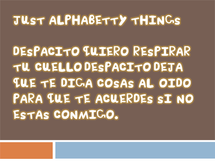 Just Alphabetty Thing! font by heaven castro
