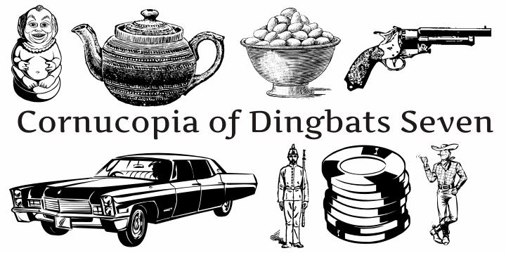 Cornucopia of Dingbats Seven font by Intellecta Design