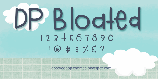 DPBloated font by doodledpop