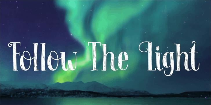 Follow The Light DEMO font by David Kerkhoff