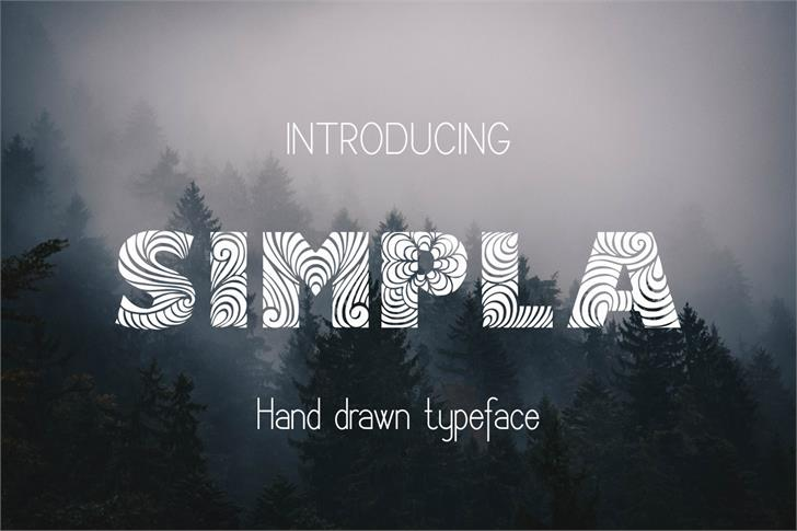 Image for Simpla font