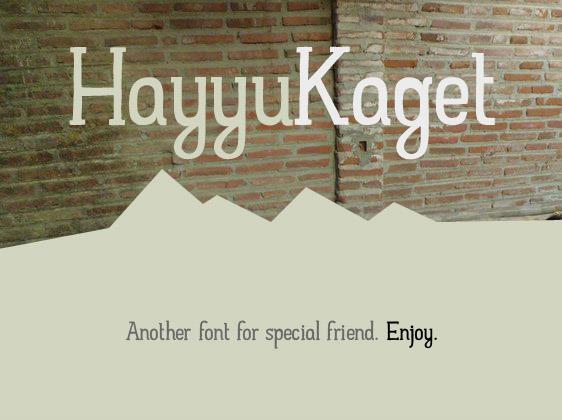 Image for Hayyu Kaget font