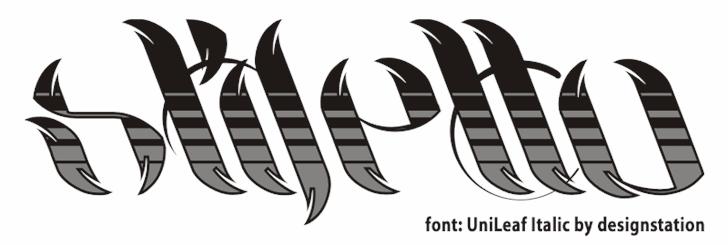 Image for UniLeaf font
