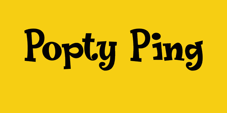 Image for Popty Ping DEMO font