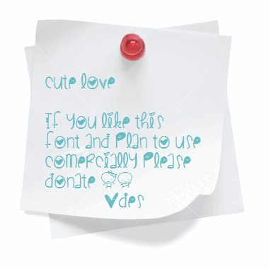 Image for CuteLove font