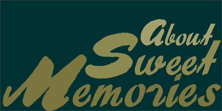 Image for About Sweet Memories font