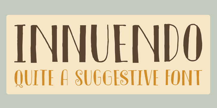 Image for DK Innuendo font