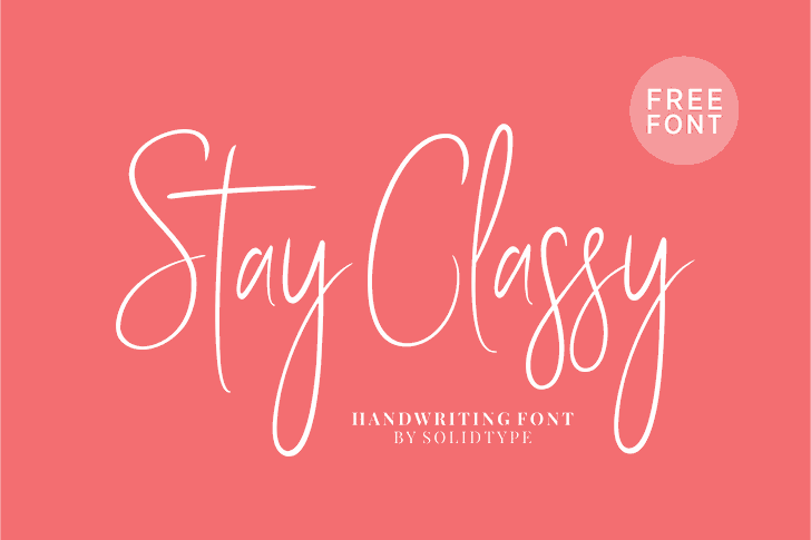 Stay Classy SLDT font by Solidtype