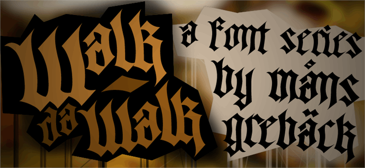 Image for Walk Da Walk One font