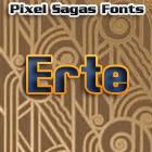 Erte font by Pixel Sagas