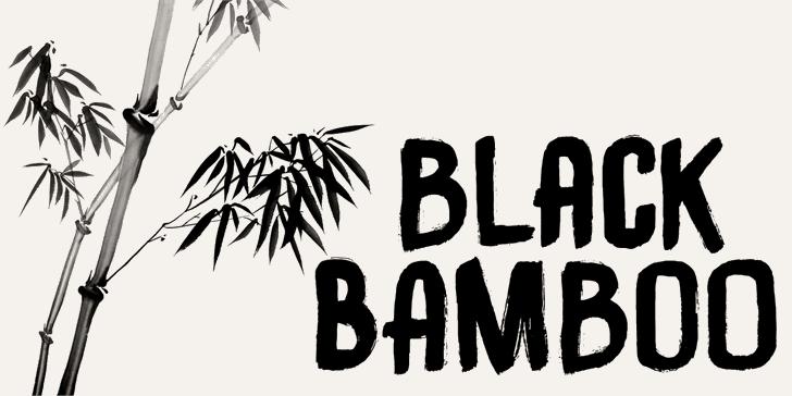 DK Black Bamboo font by David Kerkhoff