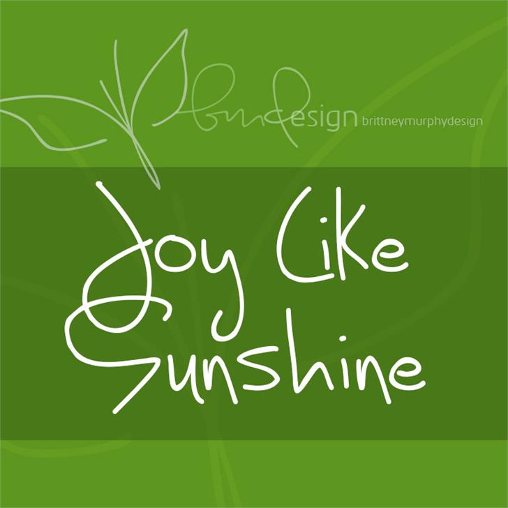 Image for Joy Like Sunshine Through My Wi font