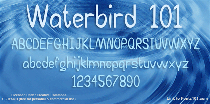 Image for Waterbird 101 font