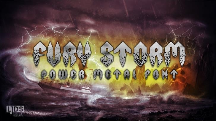 Image for Fury Storm Personal Use font