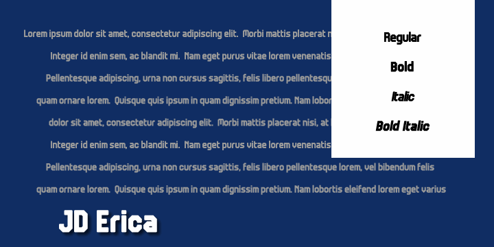 JD Erica font by Jecko Development