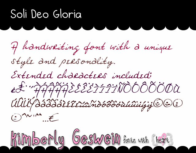 Image for Soli Deo Gloria font