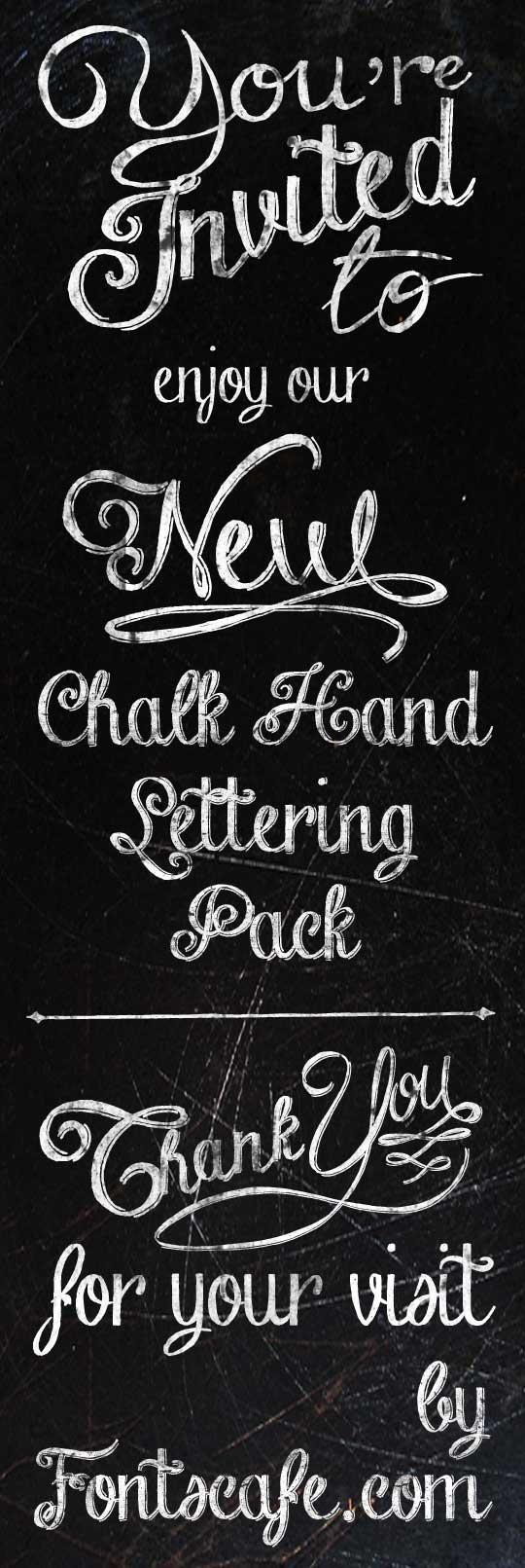 chalk-hand-lettering-shaded dem font by fontscafe
