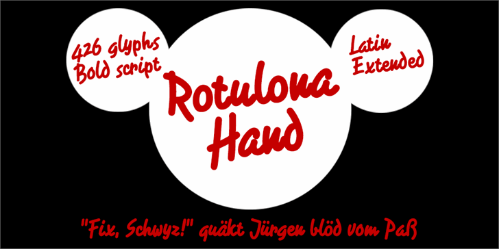 Image for Rotulona Hand font