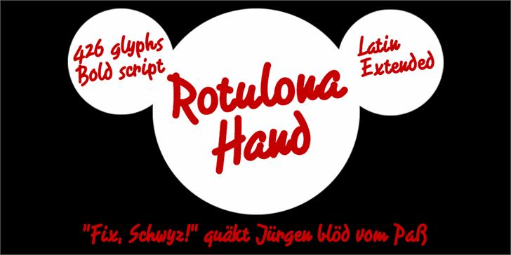 Rotulona Hand font by deFharo