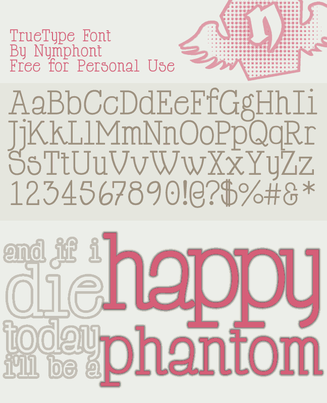Image for Happy Phantom font