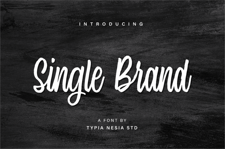 Image for Single Brand Demo font