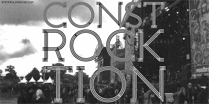 Constrocktion font by Roland Huse Design