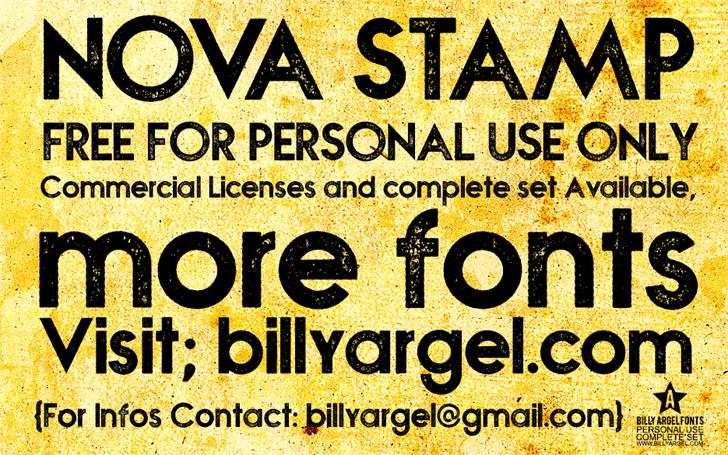 Image for NOVA STAMP font