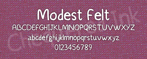 Image for Modest Felt font