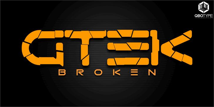 Image for Gtek Broken font