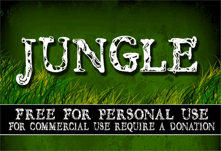 CF JUNGLE font by CloutierFontes