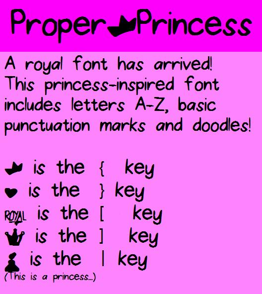 Image for ProperPrincess font