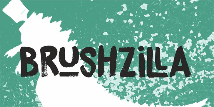 DK Brushzilla font by David Kerkhoff