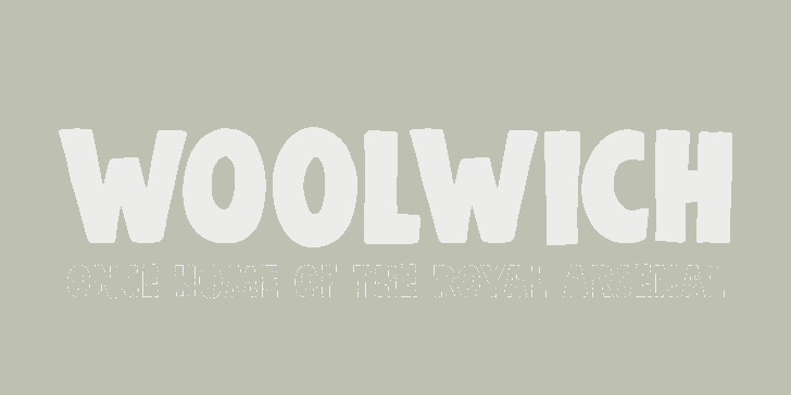 Image for DK Woolwich font