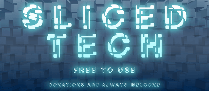 Image for Sliced-Tech font