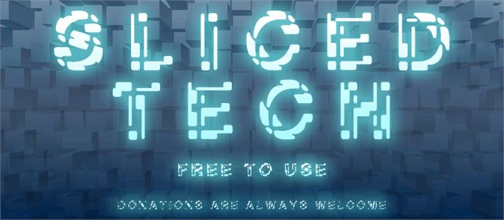 Sliced-Tech font by Z-Designs