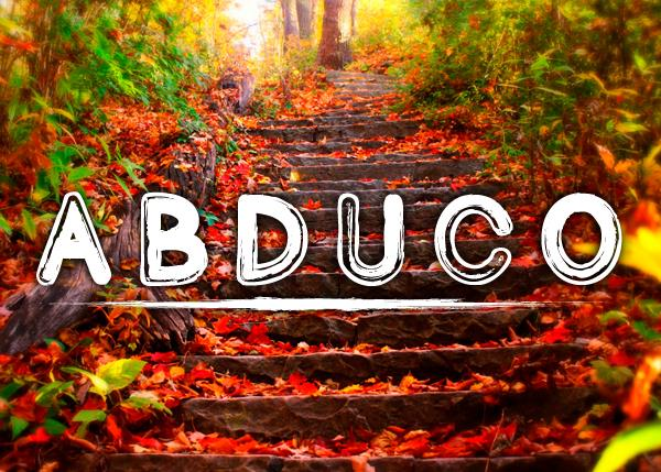 Abduco font by Chris Vile