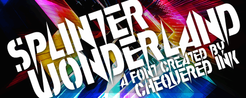 Image for Splinter Wonderland font