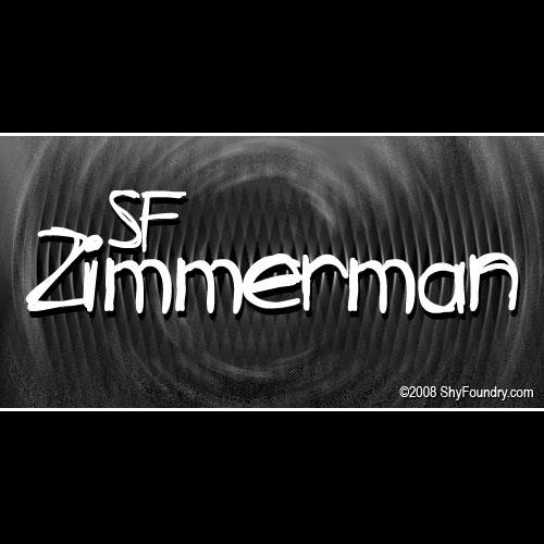 Image for SF Zimmerman font