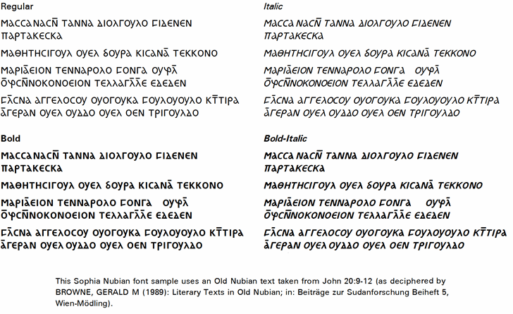 Image for Sophia Nubian font