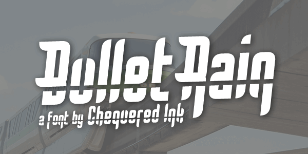 Bullet Rain font by Chequered Ink