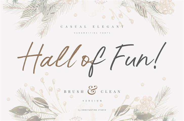 Hall Of Fun DEMO font by Konstantine Studio