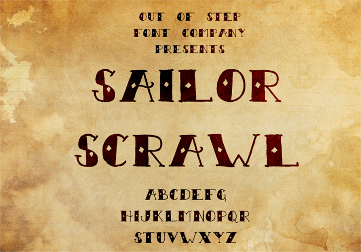 Sailor Scrawl font by Out Of Step Font Company