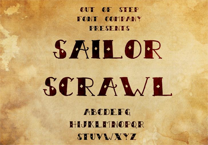 Image for Sailor Scrawl font