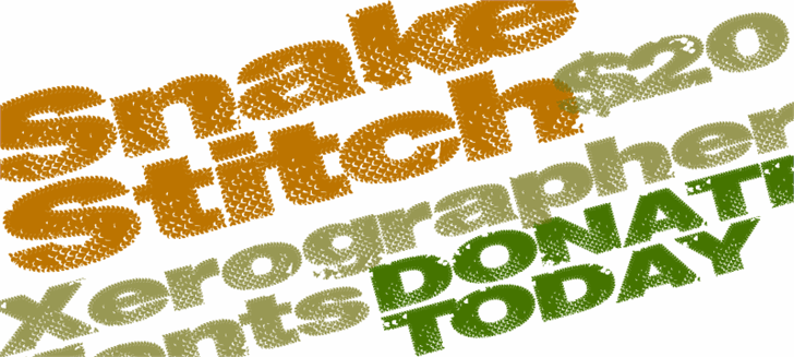 Image for SnakeStitch font