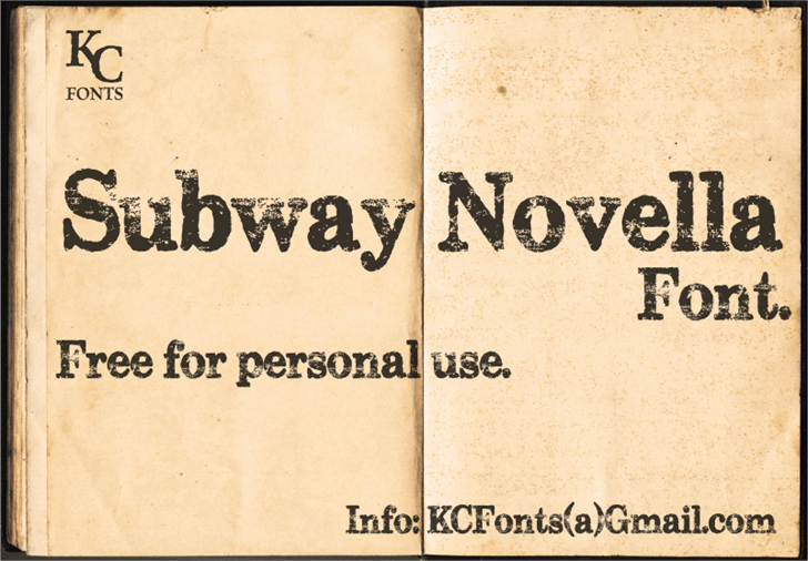 Image for Subway Novella font