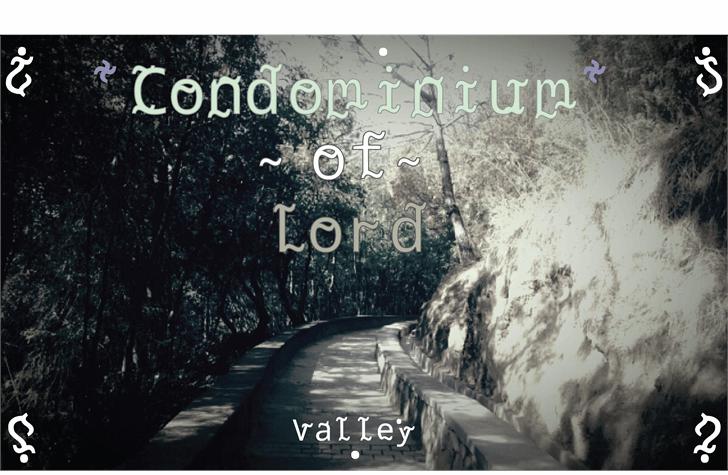 Condominium of Lord font by Cé - al