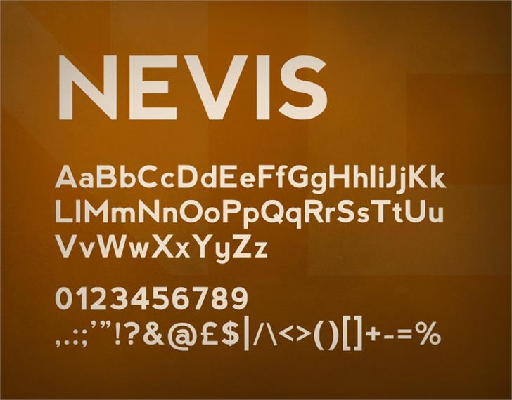 nevis font by Ten by Twenty