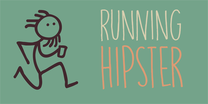 Image for DK Running Hipster font