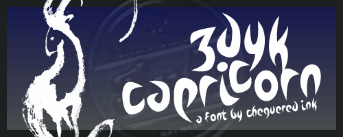 Zdyk Capricorn font by Chequered Ink